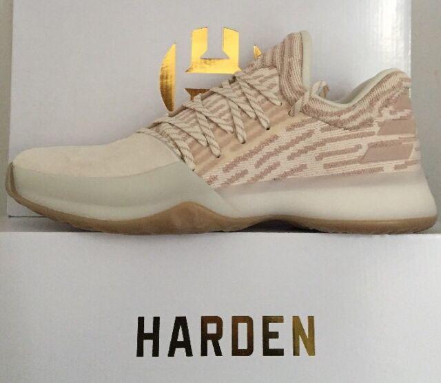 268b79648bd32 Adidas James Harden Vol. 1 PK MSRP $160 Ash Pearl Primeknit Basketball  AP9840