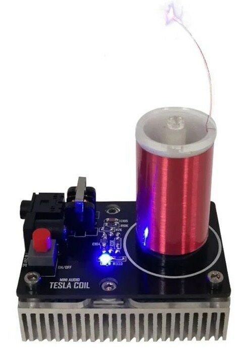 Mini Spark Gap Tesla Coil Artificial Lightning Generator High Conversion Efficie
