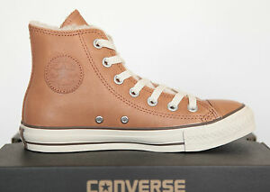 Uk Nuove All Size 132128c Chuck 5 Converse 36 scarpe in Star Hi 3 Lined pelle wRF71wq