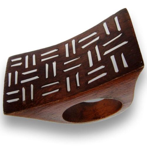 Diseñador de noble madera anillo Anillo de mano de madera natural joyas ar089