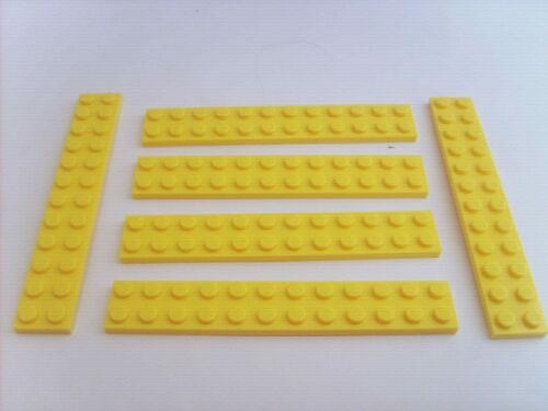 6 PLAQUES JAUNES 12X2 Lot pièces LEGO STAR WARS TBE