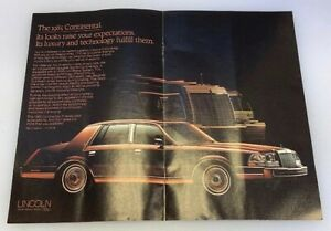 1985-Lincoln-Continental-2-Page-Advertisement-Ad-Print-Art-Car-9-x-11