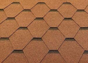 Dachschindeln-Hexagonal-Dreieck-Form-15-m-Braun-5-Pakete-Schindeln-Dachpappe