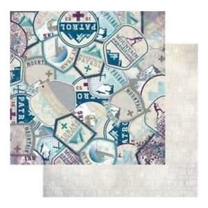 teees 2 feuilles BoBunny 12x12 scrapbooking papier prendre une randonnée collection