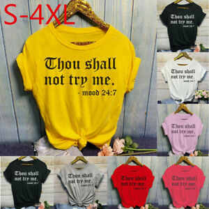 Women-Fashion-O-Neck-Letter-Print-Short-Sleeve-T-Shirt-Tops-Blouses-Casual-Tee