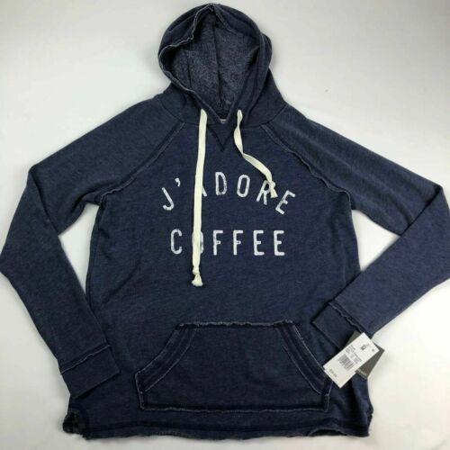 Womens LRG Sweatshirt Hooded NEW Blue J/'ADORE COFFEE by Grayson//Threads