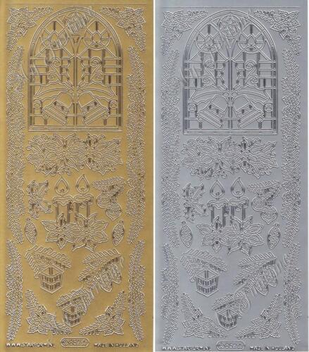 Schriftzüge Weihnachtsfenster Gold oder Silber Sticker