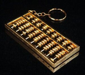 Image Is Loading Copper Crafted Gold Gilt Chinese Traditional Calculator Abacus