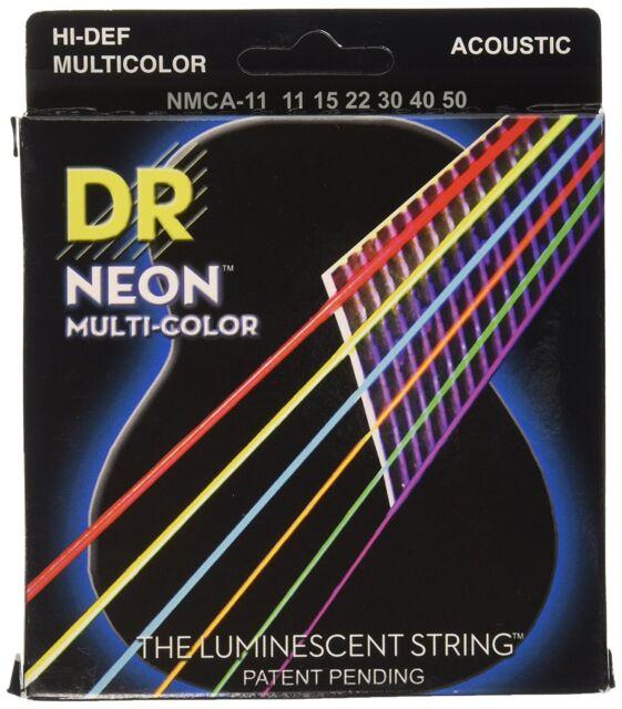 2 x Full Sets Acoustic Guitar Strings Multi-Coloured Custom Light 11-52