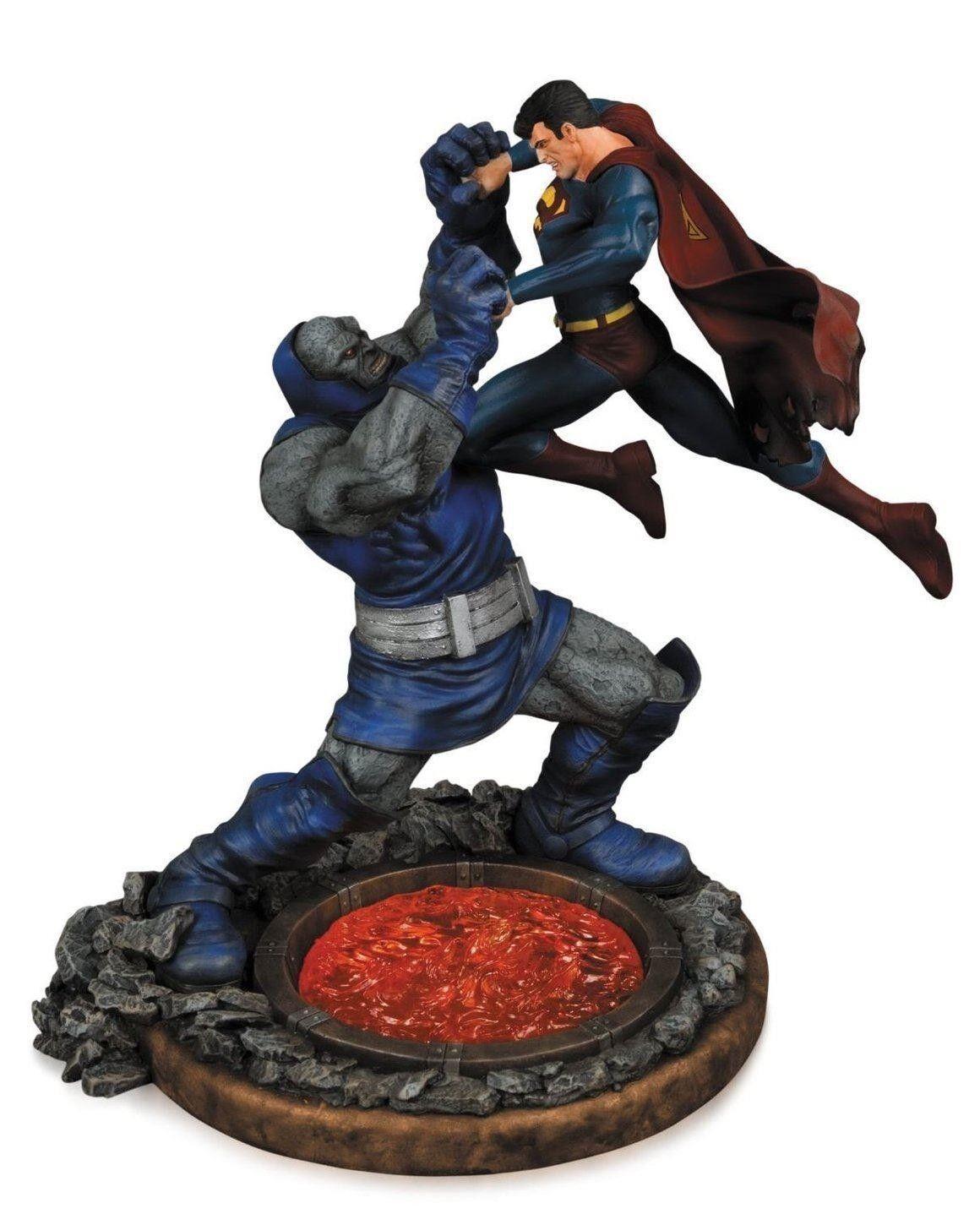 DC COMICS SUPERMAN VS DARKSEID STATUE 2ND EDITION COLD COLD COLD CAST PORCELAIN d6a8a5