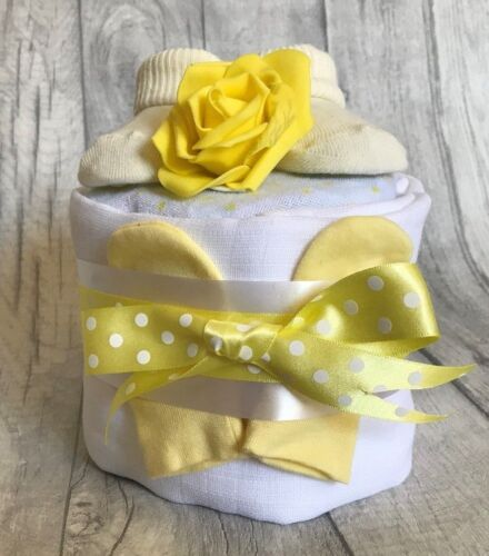 BABY SHOWER GIFT NAPPY CAKE 1 ONE TIER GIRL MATERNITY LEAVE BOY
