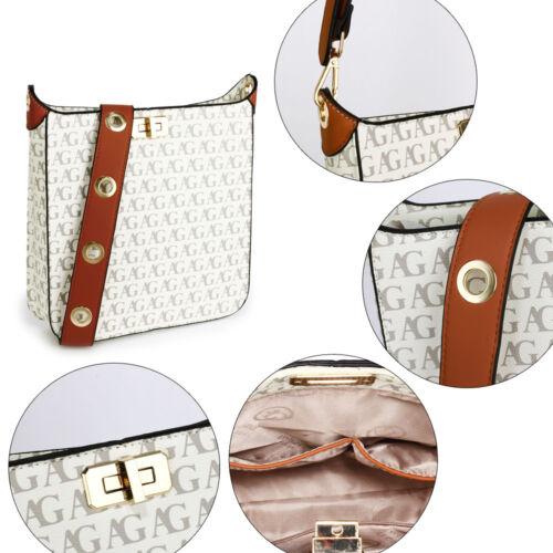 Bolsa cruzada de mensajero para mujeres damas diseñador elegante imitación de cuero bolso de hombro