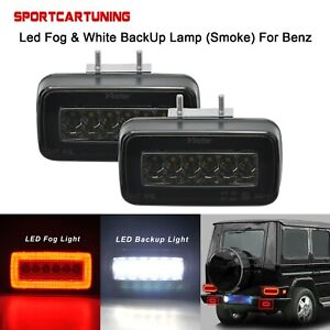 2X-LED-Nebelschlussleuchte-Reserve-Lampe-2-in-1-Fuer-Mercedes-W463-G500-550-55AMG