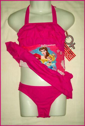 PRINCESS 2pc HALTER TOGS Sz 6 8 10 Girls BATHERS Dress Top w// skirt /& Briefs NEW