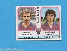 PANINI CALCIATORI 1980/81-Figurina n.346- SALVATORI+CASALE -CATANIA-Rec