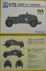 kfz-13-maschinengewehrkraftwagen-1-72-S-Model-pacco-doppio-Plastica-NUOVO