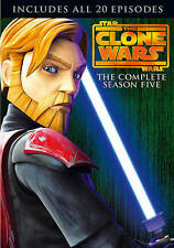 Star Wars: The Clone Wars - The Complete Season Five (DVD, 2013, 4-Disc Set)
