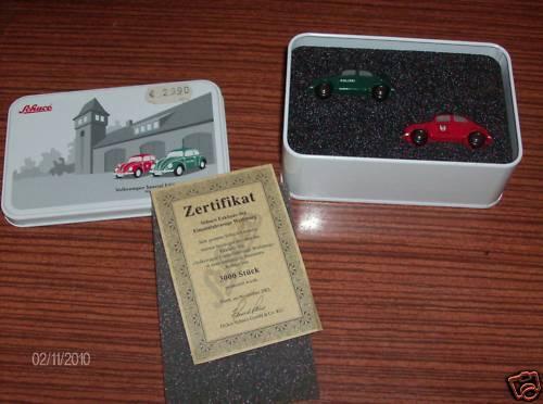 SCHUCO PICCOLO SET EINSATZFAHRZEUGE VW 2003 NEU
