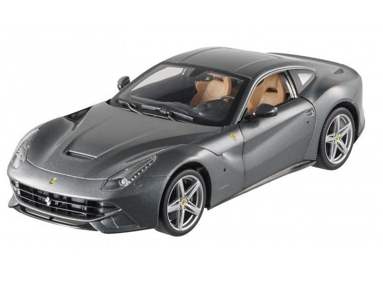 1 18 Hot Wheels Ferrari F12 berlinetta coche Modelo Diecast gris gris BCJ74