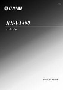 yamaha rx v1400 receiver owners manual ebay rh ebay com Yamaha Receiver RX V14.0.0 Yamaha RX V14.0.0 Review