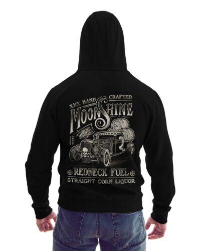 Zip Sweatjacke Herren Kapuzenpullover Hot Rod Moonshine Redneck Biker Rockabilly