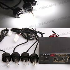 4 HID Xenon Strobe Flash Lights White Emergency Warn Lamps + Control Box