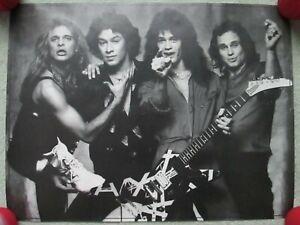 Vintage 1980 Van Halen Poster Classic Rock Southern California David Lee Roth Ebay