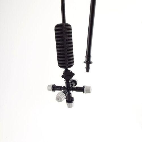 Garden Sprinkler Hanging Anti Drip Misting Nozzle PVC Irrigation Cross Atomizing