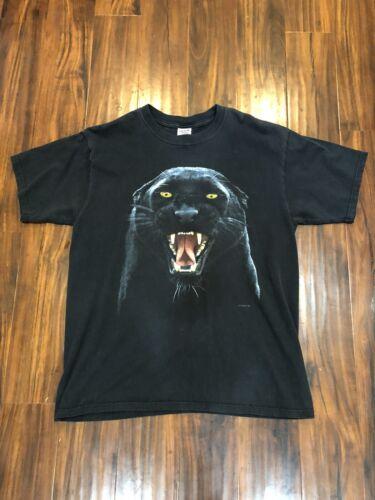 Men's L Vintage 90's Human-i-Tees Black Panther Gr