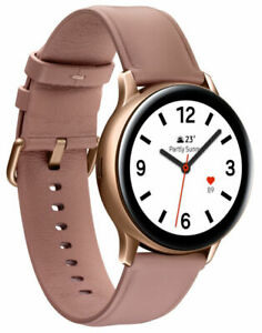Samsung Galaxy Watch Active 2 SM-R835 40mm Gold-Tone Stainless Steel Case...