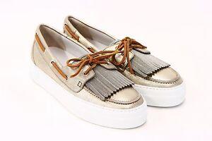 NWOB-1395-Brunello-Cucinelli-Metallic-Gold-Leather-Monili-Fringed-Boat-Shoe-A176