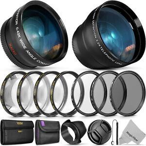 55MM-Filtro-de-Lente-esencial-Vivitar-amp-Kit-De-Accesorios-Para-Lentes-Nikon