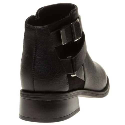 New Solesister caviglia Beret Black Stivali alla sintetici Zip Womens CCrqwxH