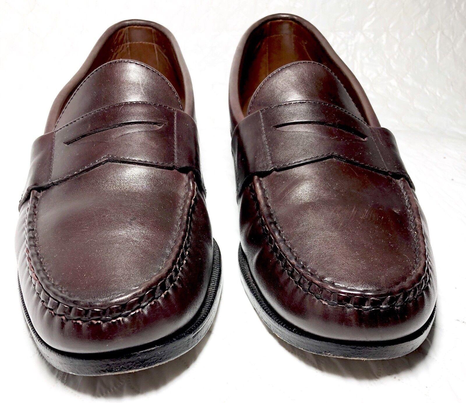 Allen EDMONDS Kearney Penny Loafers Loafers Loafers braun Leather Men Dress schuhe Größe 10 1 2D 457b58
