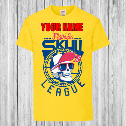 Skull League Kids T-Shirt DTG Personalized with name Children