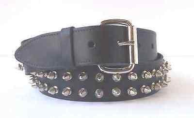 Genuine Leather 2 Row Spike Belt. GothicPunk (VARIOUS SIZES) SB210 | eBay