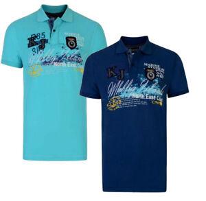 NEW-KAM-MENS-BIG-amp-TALL-MARINE-2XL-3XL-4XL-5XL-6XL-Sleeve-Polo-Top-Shirt-shirts