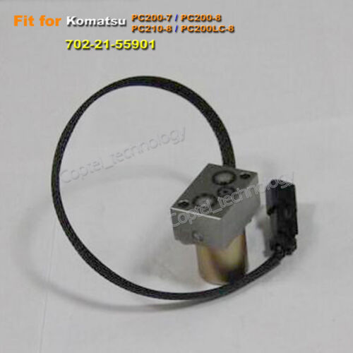 Hydraulic Pump Solenoid Valve 702-21-55901 for Komatsu PC200-7 PC200-8 PC210-8