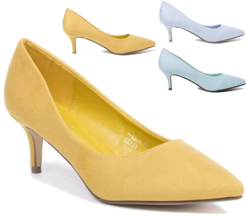 LADIES WOMENS HEEL STILETTO COURT PUMPS POINTY TOE COURT SHOES SIZE 3-8