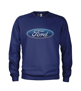 Offiziell lizenzierte Männer Ford Oval Logo Sweatshirt Pullover