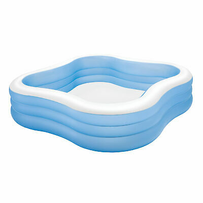 Intex Swim Center 90in X 90in X 2in Inflatable Play Kids Backyard Swimming Pool Ebay