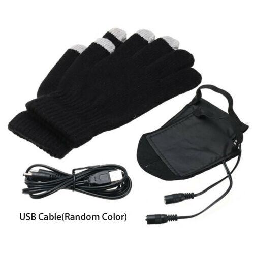 USB Unisex Winter Warm Hand Heating Gloves Touch Screen Constant Wearable Mitten