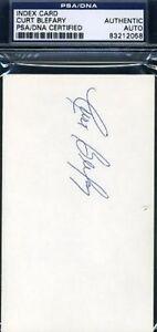 Curt Blefary Signed Psa/dna 3x5 Index Card Autograph Authentic