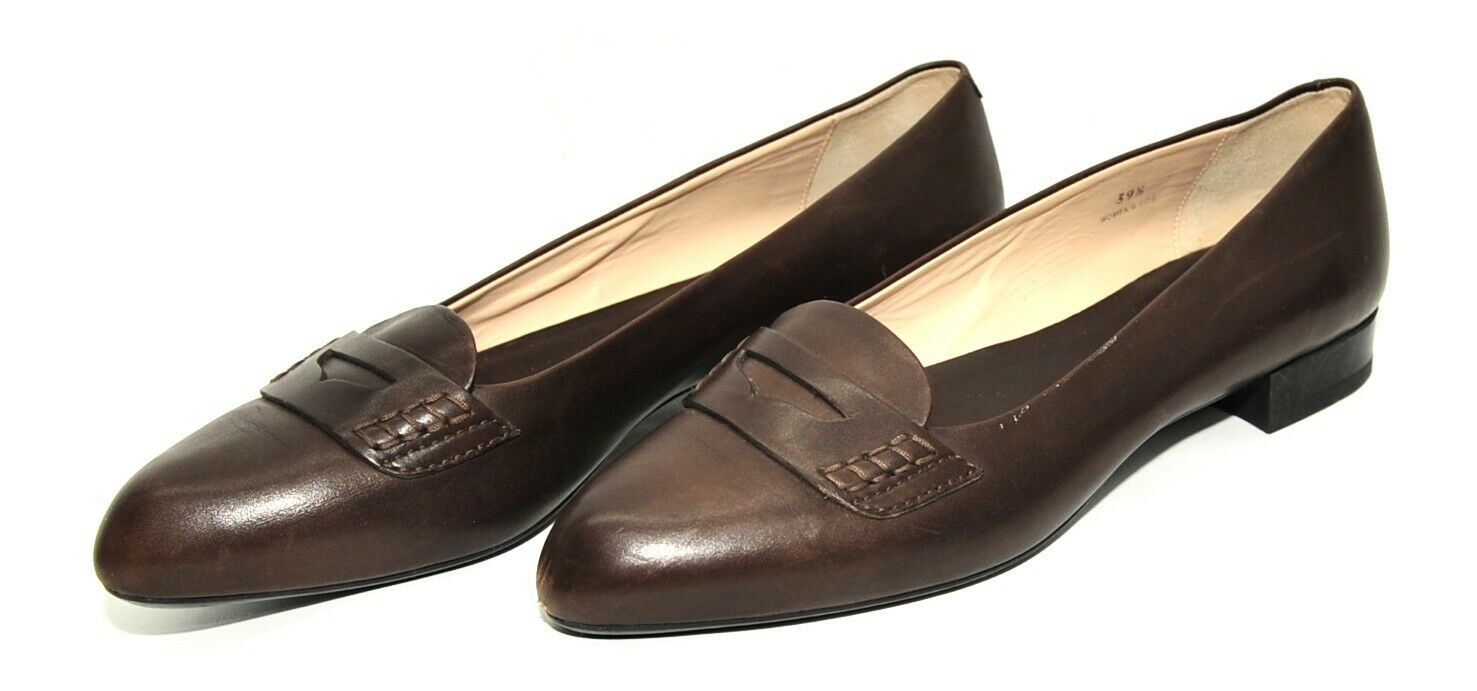 SUPERB WOMEN TODS LEATHER LOAFERS BROWN SIZE UK 6.5 EU 39.5 MADE IN ITALY