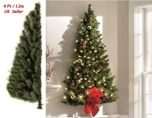 Details About 4 Ft 1 2m Wall Mounted Half Christmas Tree Hanging Xmas Indoor E Saving New