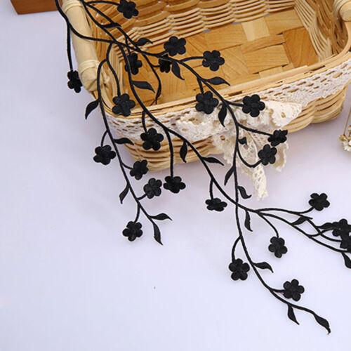 Plum Blossom Lace Motif Embroidery Bridal Gown Applique Wedding Cloth Trim 1 PC