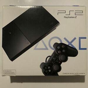Sony PlayStation 2 New Open Box NTSC U/C SCPH-90001cb - Slim Black Home Console