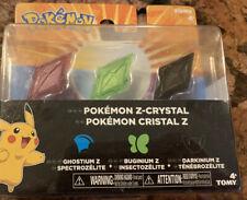 Buginium Z /& Darkinium Z Crystal 3-Pack Pokemon Z-Ring Ghostium Z
