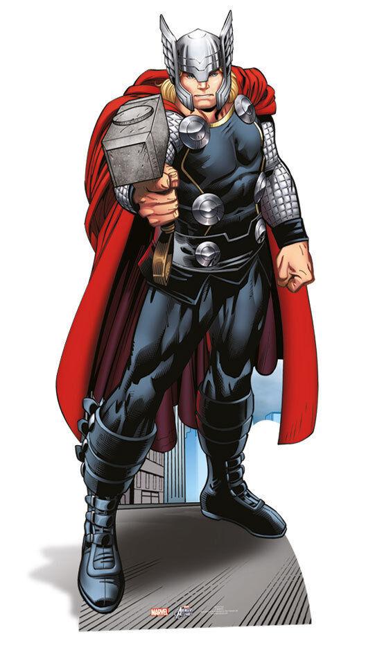 THOR LifeDimensione CARTONATO che stà in in in piedi da solo Marvel Avengers Assemble FIOCCO 63ec9d