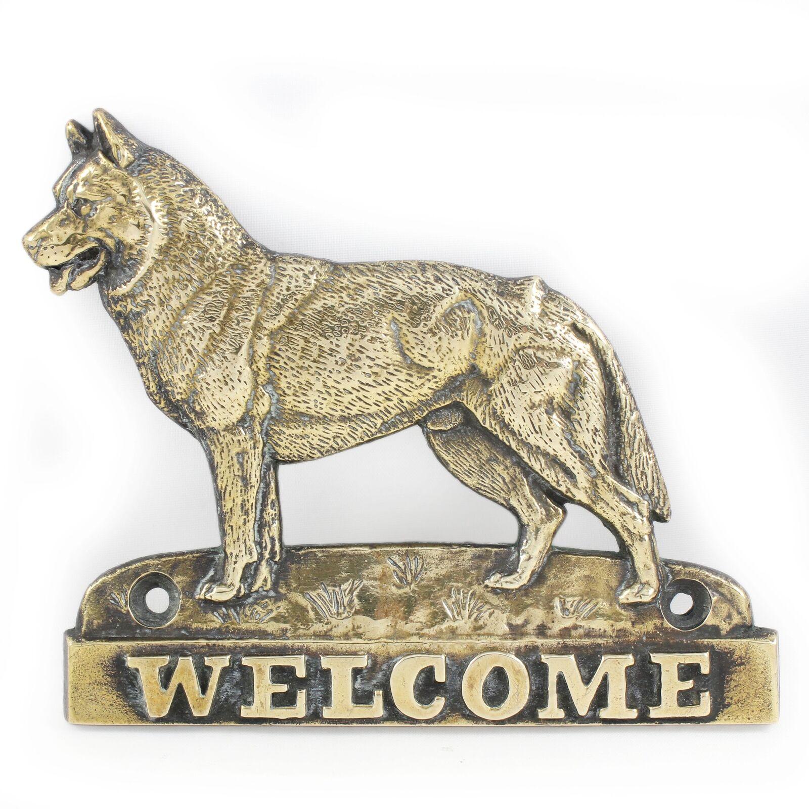 Siberian Husky - brass tablet with image of a dog, Art Dog